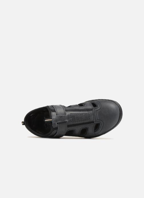 Sandales et nu-pieds Rieker Rolf Noir vue gauche