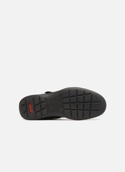 Sandales et nu-pieds Rieker Rolf Noir vue haut