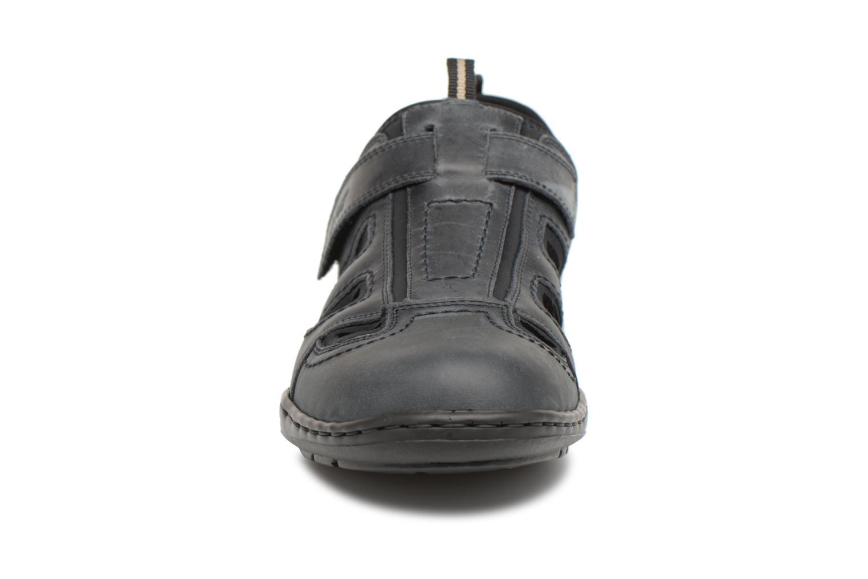 Sandalen Rieker Rolf schwarz schuhe getragen