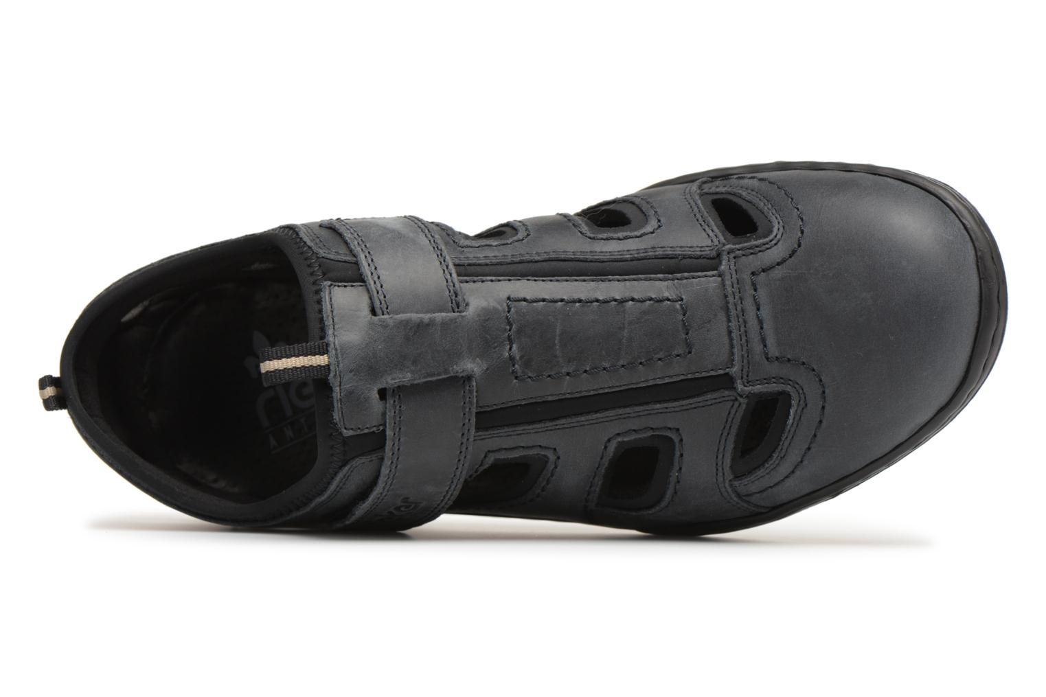 Sandals Rieker Rolf Black view from the left