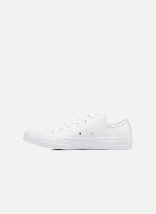 Baskets Converse Chuck Taylor All Star Monochrome Leather Ox W Blanc vue face