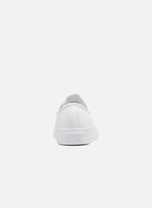 Sneaker Converse Chuck Taylor All Star Monochrome Leather Ox W weiß ansicht von rechts