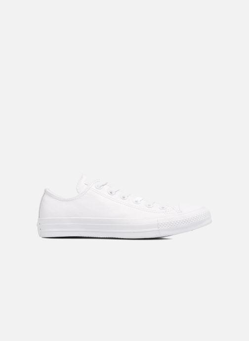 Sneaker Converse Chuck Taylor All Star Monochrome Leather Ox W weiß ansicht von hinten
