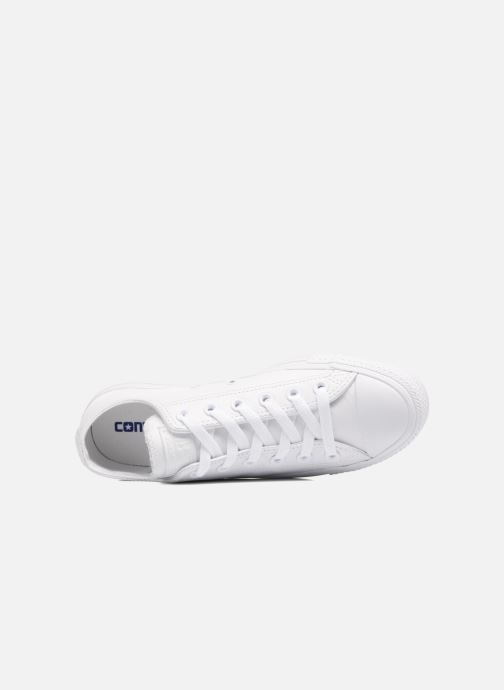 Sneaker Converse Chuck Taylor All Star Monochrome Leather Ox W weiß ansicht von links
