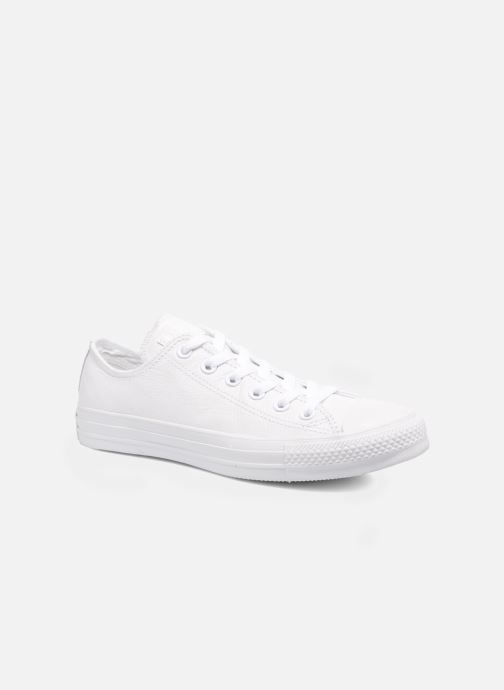 Deportivas Converse Chuck Taylor All Star Monochrome Leather Ox W Blanco vista de detalle / par