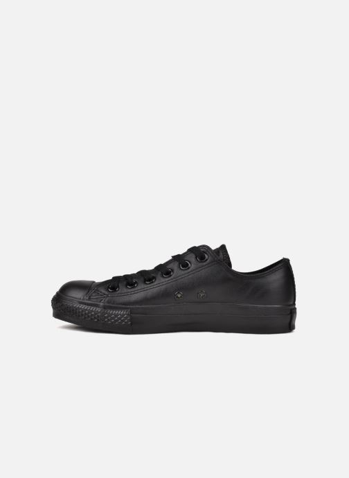 Sneakers Converse Chuck Taylor All Star Monochrome Leather Ox W Zwart voorkant