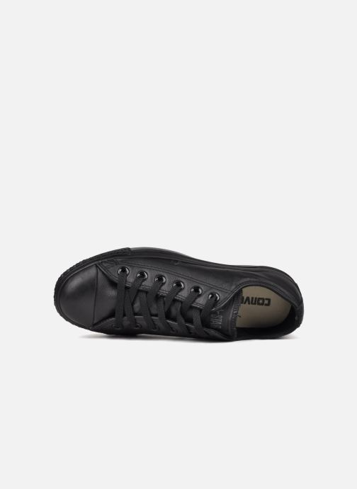 Sneakers Converse Chuck Taylor All Star Monochrome Leather Ox W Nero immagine sinistra