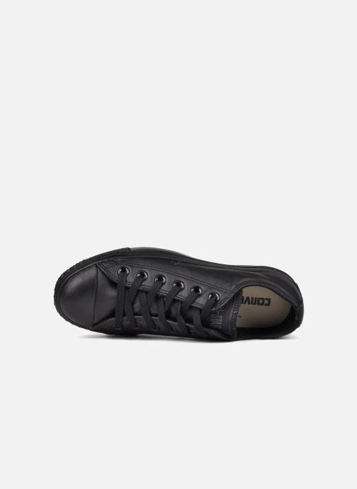 Sneakers Converse Chuck Taylor All Star Monochrome Leather Ox W Nero immagine sinistra