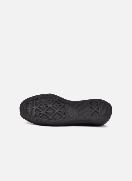 Sneakers Converse Chuck Taylor All Star Monochrome Leather Ox W Nero immagine dall'alto