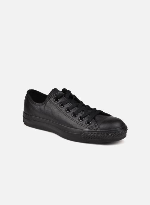 Sneakers Converse Chuck Taylor All Star Monochrome Leather Ox W Sort detaljeret billede af skoene