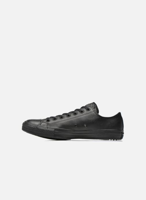 Sneakers Converse Chuck Taylor All Star Monochrome Leather Ox M Nero immagine frontale