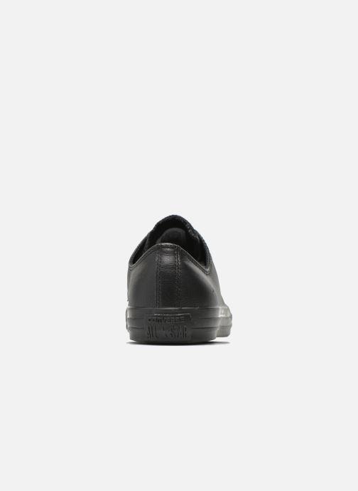 Sneakers Converse Chuck Taylor All Star Monochrome Leather Ox M Nero immagine destra