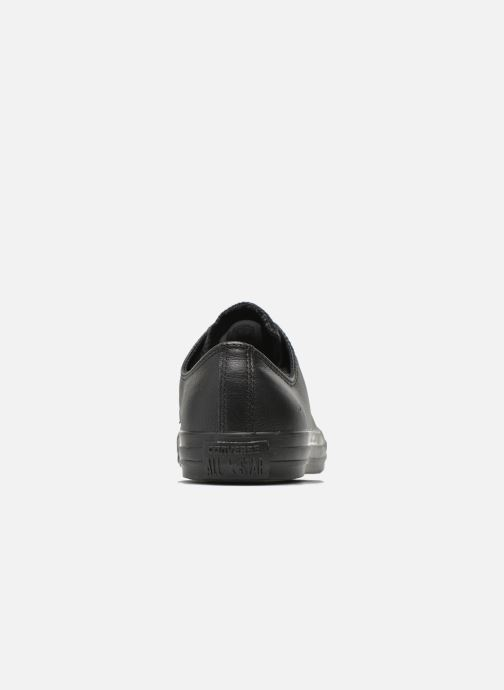 Trainers Converse Chuck Taylor All Star Monochrome Leather Ox M Black view from the right