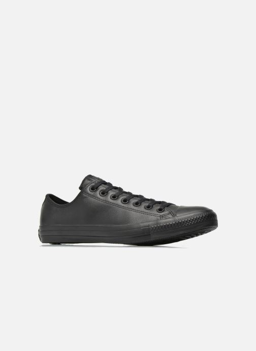 Baskets Converse Chuck Taylor All Star Monochrome Leather Ox M Noir vue derrière