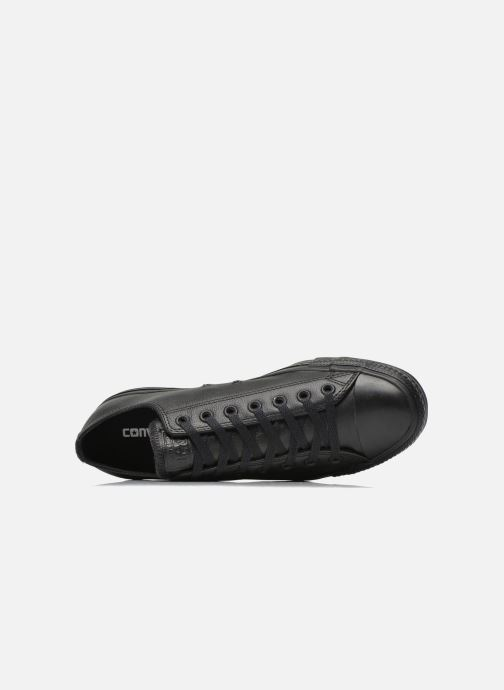 Sneakers Converse Chuck Taylor All Star Monochrome Leather Ox M Nero immagine sinistra