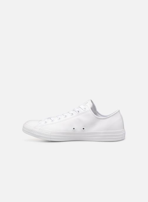Baskets Converse Chuck Taylor All Star Monochrome Leather Ox M Blanc vue face