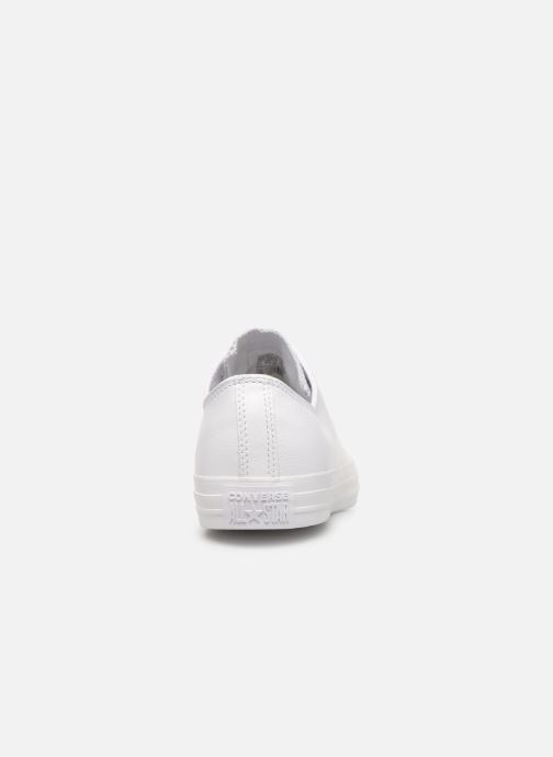 Trainers Converse Chuck Taylor All Star Monochrome Leather Ox M White view from the right