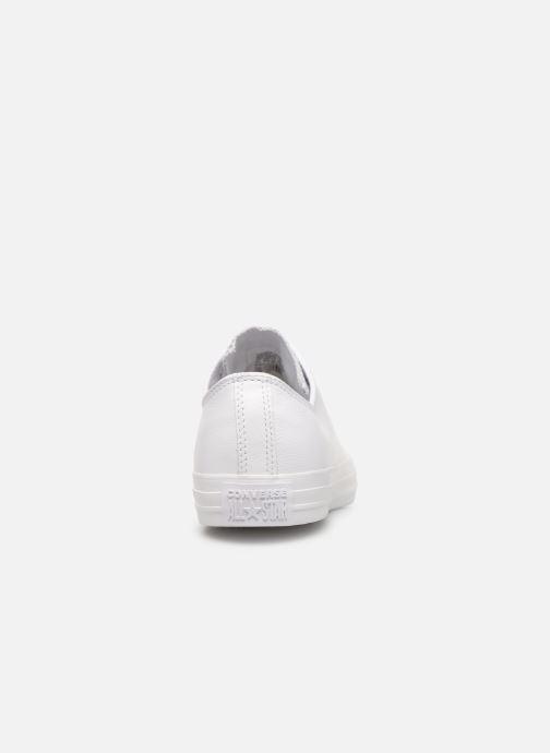 Sneaker Converse Chuck Taylor All Star Monochrome Leather Ox M weiß ansicht von rechts