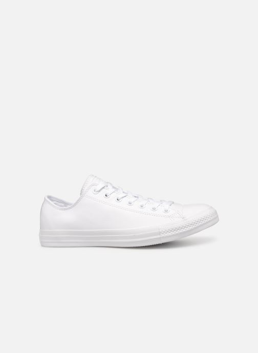 Sneakers Converse Chuck Taylor All Star Monochrome Leather Ox M Wit achterkant