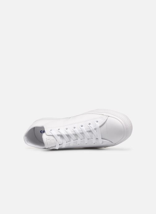 Sneakers Converse Chuck Taylor All Star Monochrome Leather Ox M Bianco immagine sinistra