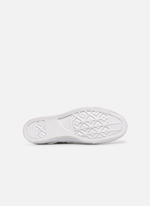 Sneaker Converse Chuck Taylor All Star Monochrome Leather Ox M weiß ansicht von oben