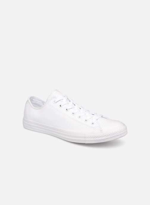 Deportivas Converse Chuck Taylor All Star Monochrome Leather Ox M Blanco vista de detalle / par