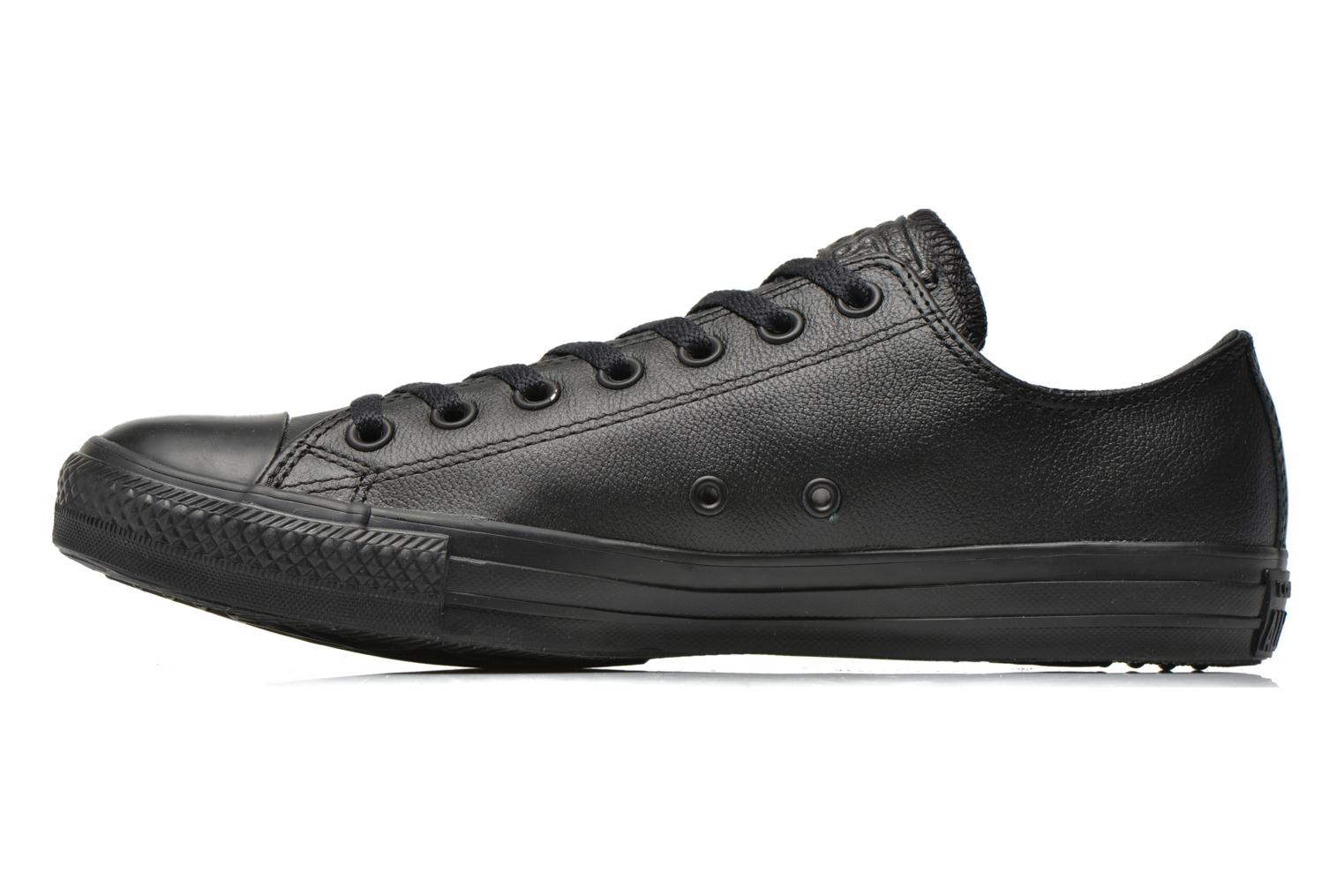 Baskets Converse Chuck Taylor All Star Monochrome Leather Ox M Noir vue face