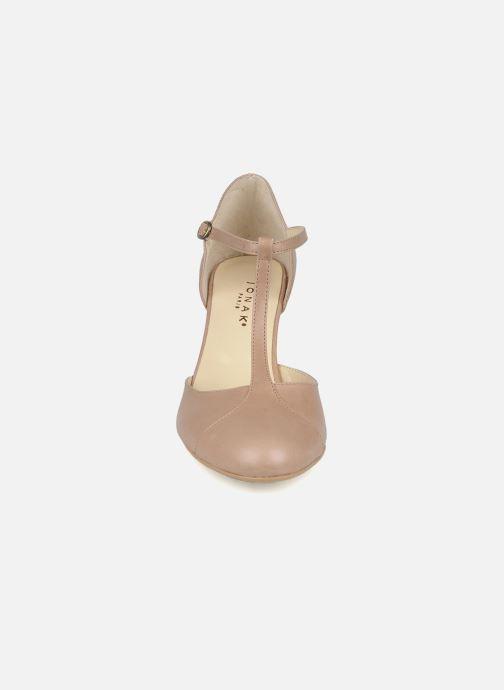 Escarpins Jonak Lina 10714 Beige vue portées chaussures