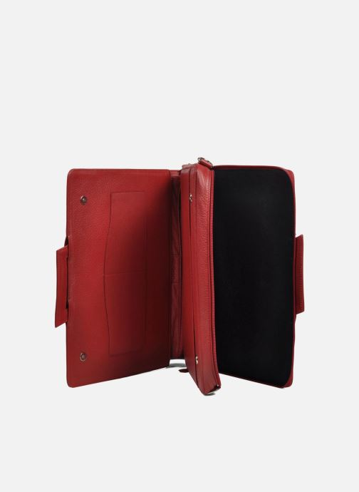 Business Lin & Gelli Elegy Laptop Red view from the left