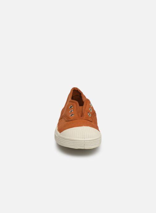 Baskets Bensimon Tennis Elly E Marron vue portées chaussures