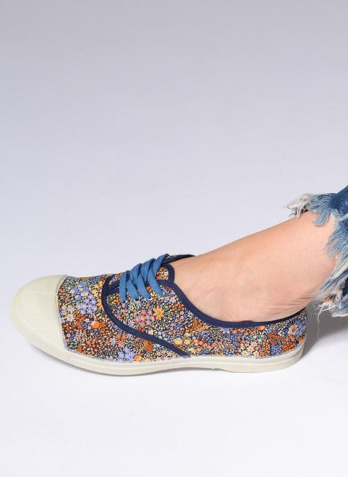 Trainers Bensimon Tennis Liberty Blue view from underneath / model view