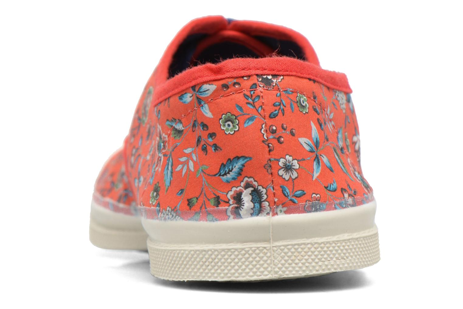 Trainers Bensimon Tennis Liberty Red view from the right