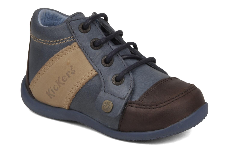 Bottines et boots Kickers Biped Enfant Bleu vue détail/paire