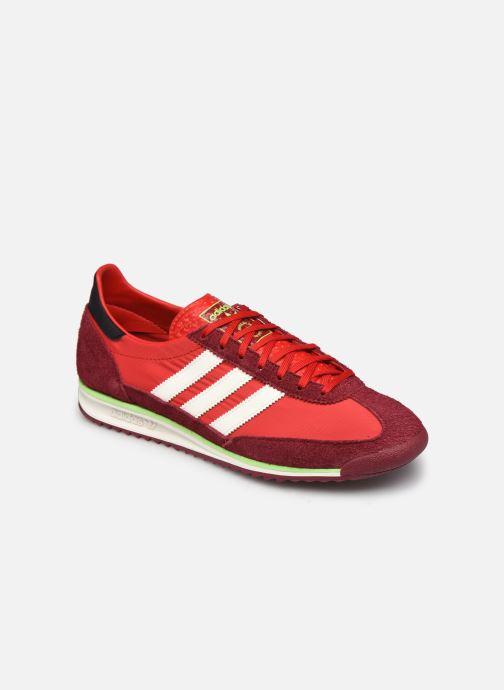 Deportivas adidas originals SL 72 Rojo vista de detalle / par