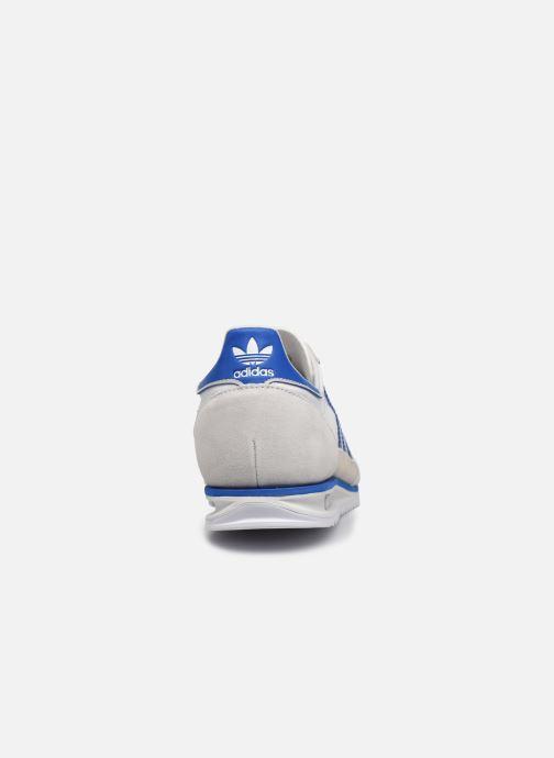 Baskets adidas originals SL 72 Blanc vue droite