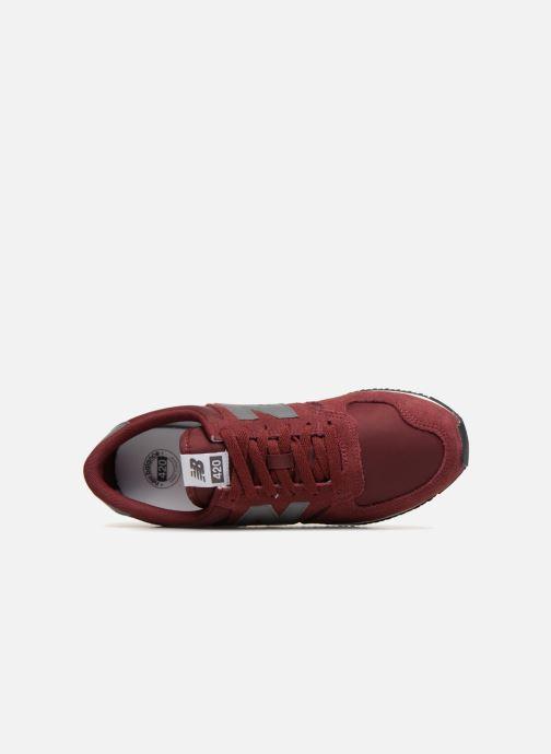 Sneaker New Balance U420 weinrot ansicht von links