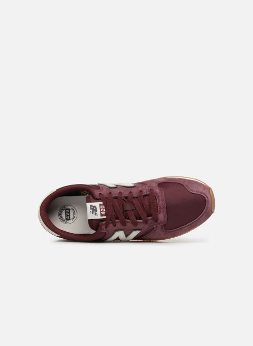 Trainers New Balance U420 Burgundy view from the left