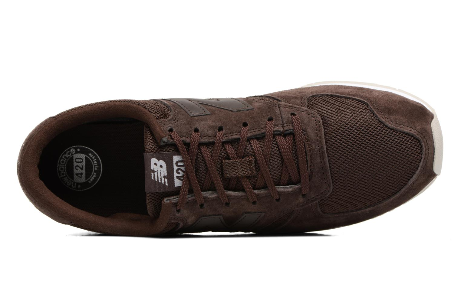 Baskets New Balance U420 Marron vue gauche