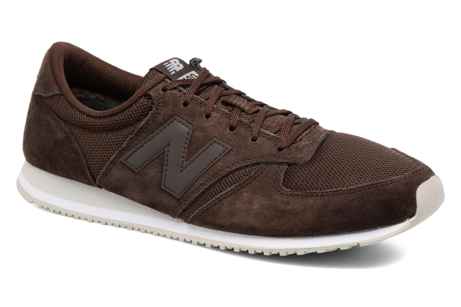 Baskets New Balance U420 Marron vue détail/paire