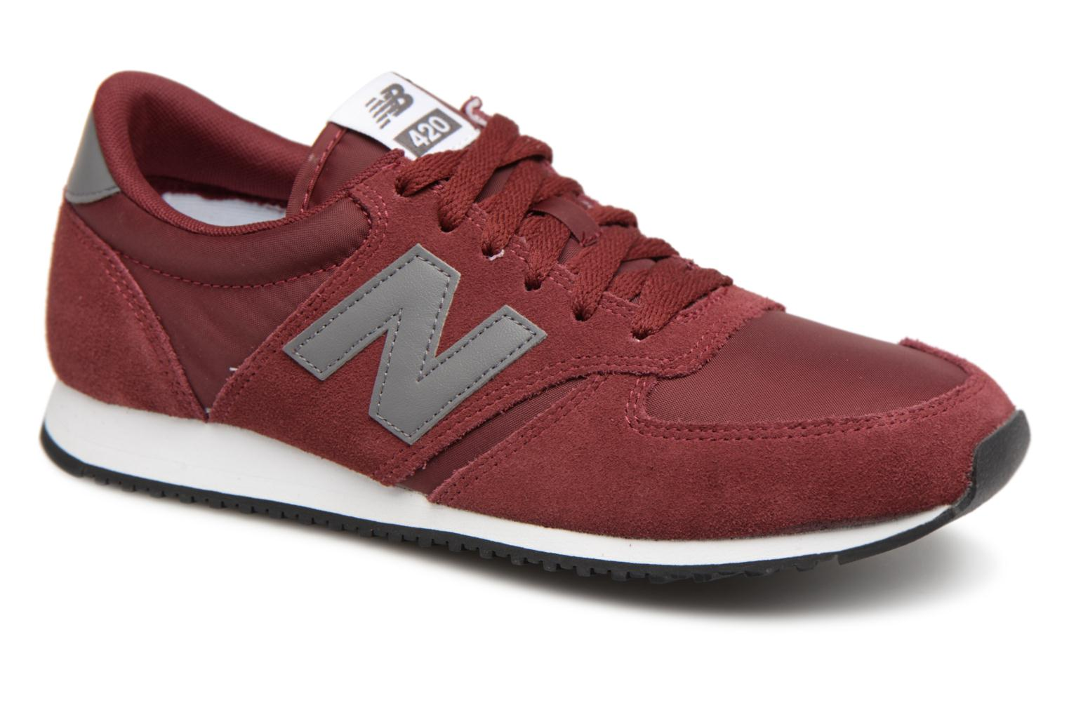 low priced 36234 2d4e1 Baskets New Balance U420 Bordeaux vue détail paire