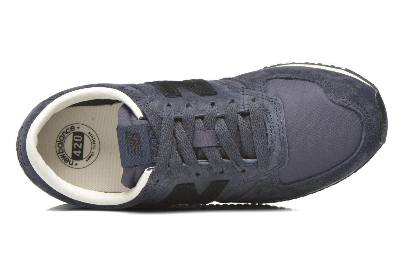 Baskets New Balance U420 W Bleu vue gauche