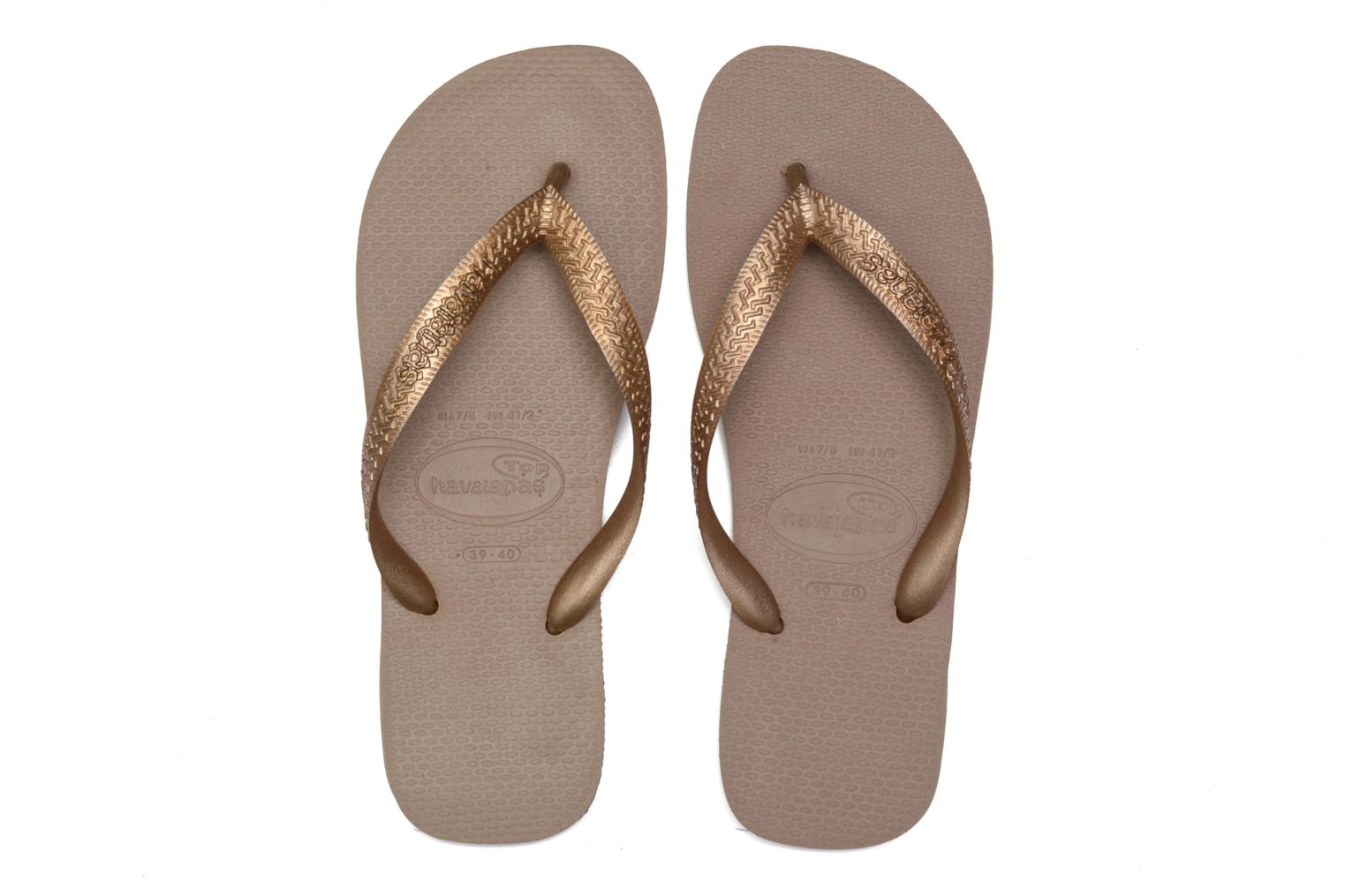 Tongs Havaianas Top Metallic F Or et bronze vue 3/4