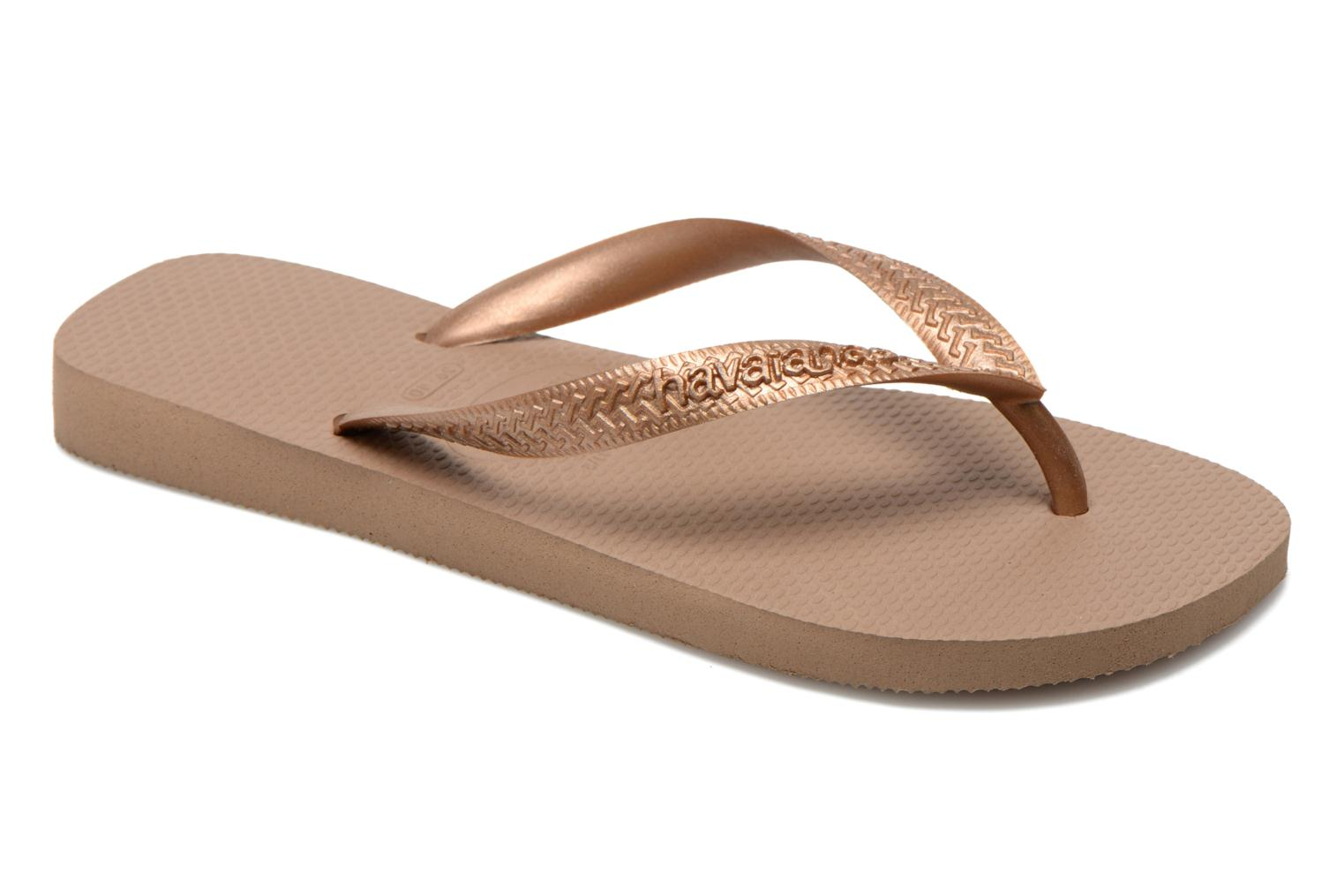 Tongs Havaianas Top Metallic F Or et bronze vue détail/paire