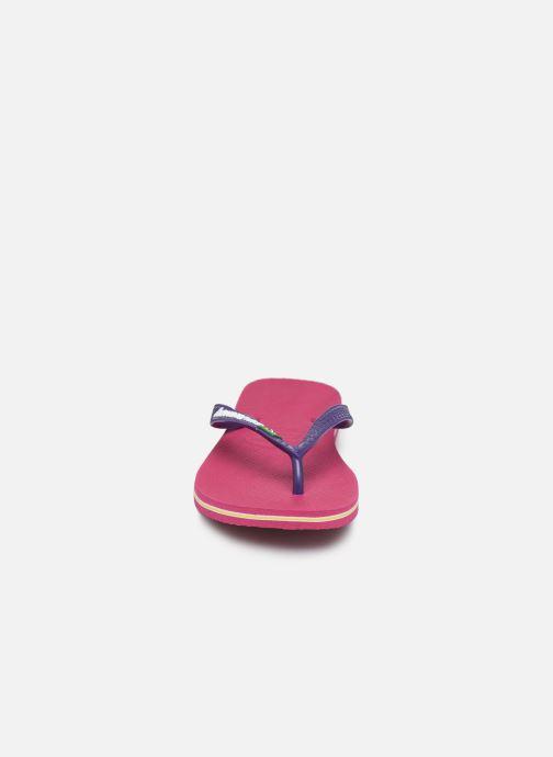 Tongs Havaianas Brasil Logo F Violet vue portées chaussures