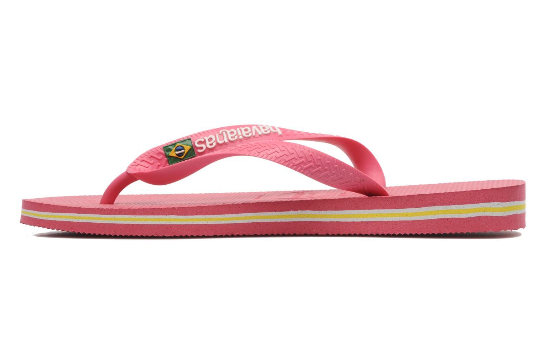 Flip flops Havaianas Brasil Logo F Pink front view