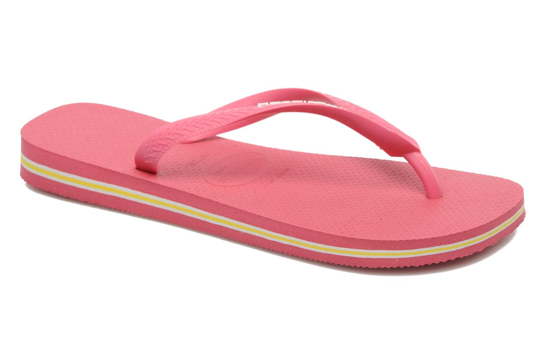 Flip flops Havaianas Brasil Logo F Pink detailed view/ Pair view