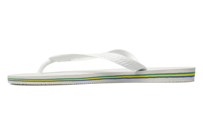 Flip flops Havaianas Brasil Logo F White front view