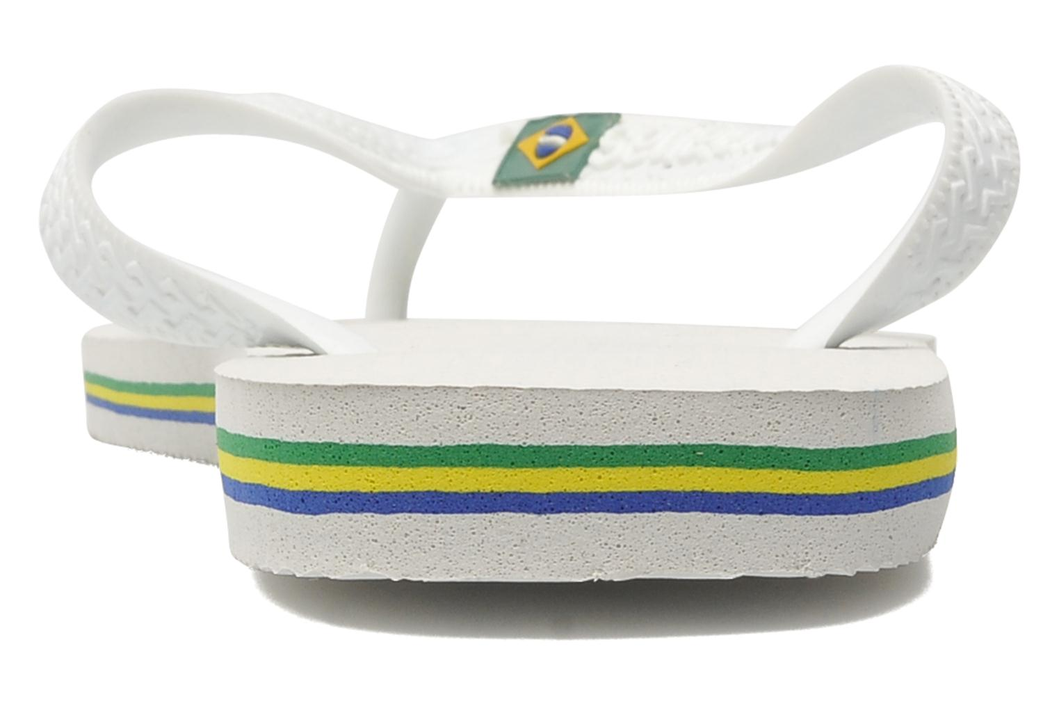 Flip flops Havaianas Brasil Logo F White view from the right