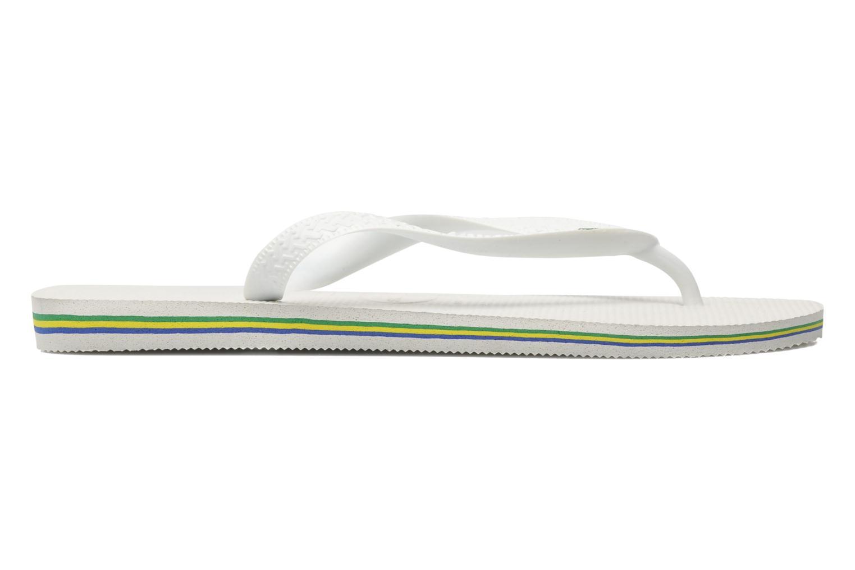 Flip flops Havaianas Brasil Logo F White back view