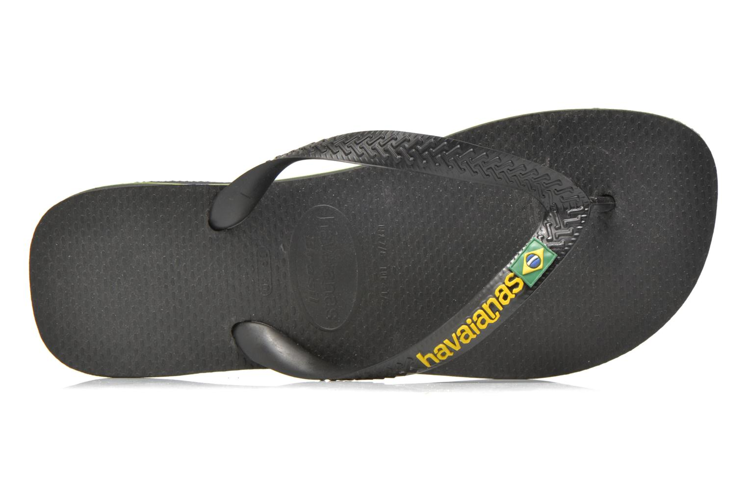 Flip flops Havaianas Brasil Logo F Black view from the left